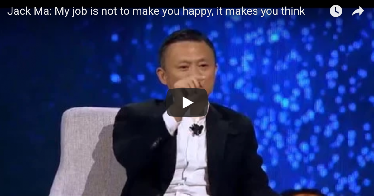 Lesson Learnt from Jack Ma